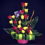 red_yellow-roses-arrangement