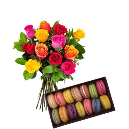 12-mixed-roses-14-macroons-combo