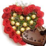 16-roses-with-16pc-ferrero-arrangement-heart-cake
