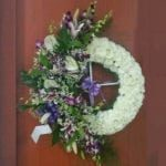 orchid-lily-anthurium-chrysanthemum-wreath