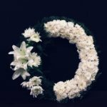 White Chrysanthemum Lily Wreath