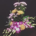 chrysanthemum Orchids arrangement