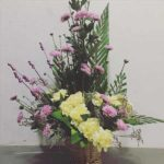 Chrysanthemum carnations arrangement