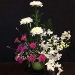 Orchid Carnations Chrysanthemum Arrangement