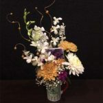 Orchids Chrysanthemum Mug Arrangement