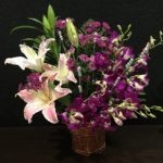 Orchids lilies Arrangement