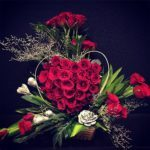 53 Roses Heart Shaped Arrangement