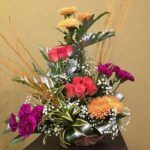 Carnations Chrysanthemum Roses Arrangement